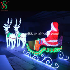 Outdoor Sleigh Decoration China Outdoor Led Lighted Santa Claus Sleigh Christmas Decoration