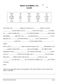 shared cloze test worksheets
