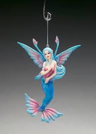 coral sprite mermaid ornament by brigid ashwood ornaments