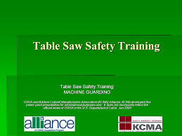 Kitchen Cabinets Manufacturers Association Table Saw Safety Training Ppt Video Online Download