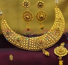 copper necklace set images Nl2012 gold plated antique spiral design copper handmade fancy JPG