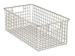 Cabinet Baskets Storage Amazon Com Mdesign Wire Storage Basket For Kitchen Pantry