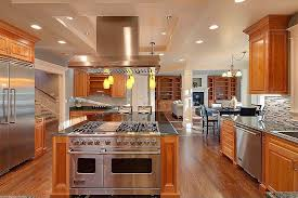oak kitchen cabinets with stainless steel appliances home stratosphere an open concept floor