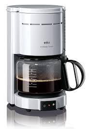 designer kaffeemaschinen de braun kf 47 1 filterkaffeemaschine weiß