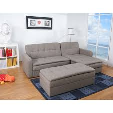 Living Spaces Beds by Denver Rind Finish Double Cushion Storage Sectional Sofa Bed And