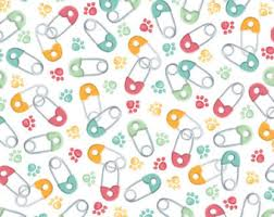 Backyard Baby Fabric by Safety Pin Fabric Etsy