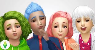 childs hairstyles sims 4 my sims 4 blog base game hair recolors part 1 toddlers and