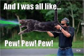 Obama Shooting Meme - obama shooting laser cat justpost virtually entertaining