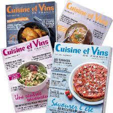 cuisine et vins de recette promo abonnement magazine cuisine et vins de