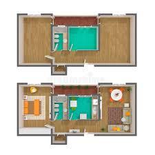 top view floor plan 3d floor plan top view stock illustration illustration of bedroom