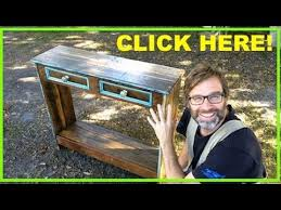 How To Make End Tables Out Of Pallets by How To Build A Hall Table Using Recycled Pallet Wood Youtube