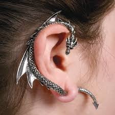 earring cuffs silver ear cuff dragons ear cuffs