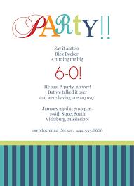 60th birthday invites free template birthday party invitation