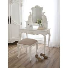 Bobkona St Croix Collection Vanity Set With Stool White Table Archaiccomely Furniture Classic Bedroom Vanities For Nice