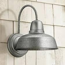 Galvanized Outdoor Lights Silver Rustic Lodge Outdoor Lighting Ls Plus