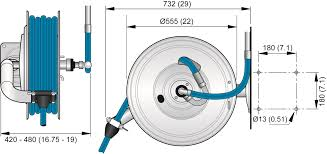 best wall mounted hose reel hose reel 886 stainless nederman