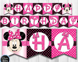 minnie mouse banner etsy