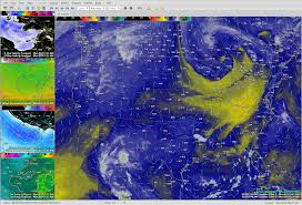 Weather Map North America by Simuawips Meteorological Workstation