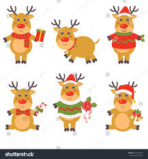 happy cartoon christmas reindeer stock vector 310968443 shutterstock