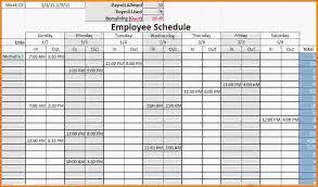 employee work schedule template sample of work schedule template
