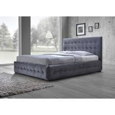 Harmony Platform Bedroom Set Baxton Studio Margaret Modern And Contemporary Grey Velvet Button