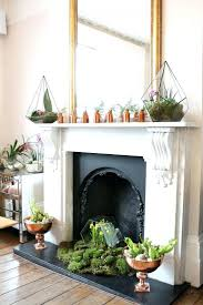 fireplace astounding decorate unused fireplace for living ideas