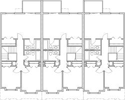 row house floor plans triplex plans small lot house plans row house plans t 413