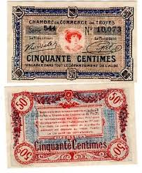 chambre de commerce de troyes chambre de commerce de troyes billet 50 centimes 1926 7