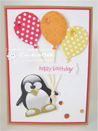 fast u0026 fabulous sparkle handmade birthday cards penguins and