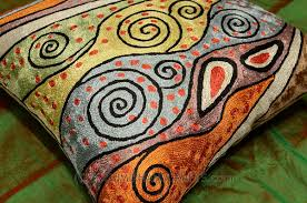 Cushion Covers For Sofa Pillows by Klimt Accent Pillow Cover Rainbow Handembroidered Kashmir Fine