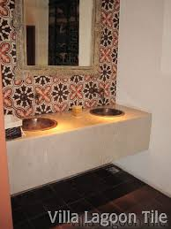 Mexican Tile Bathroom Ideas Colors Bathrooms With Cement Tile Villa Lagoon Tile