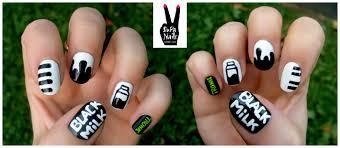 Music Nail Art Design I Black Milk Black Milk Is One Of My Favorite Supa Nails