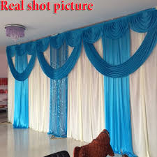 Wedding Backdrop Background Aliexpress Com Buy 3m Highx6m Wide Wedding Backdrop Swag Curtain