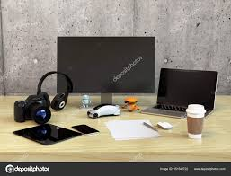 bureau de designer vue de du bureau de design graphique photographie chesky w
