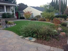 California Landscaping Ideas Artificial Grass San Joaquin California City Landscape Front
