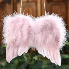 light pink feather wings wings doll