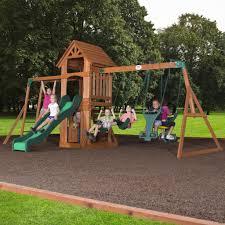 backyard discovery yukon iii cedar swing set gorilla playsets