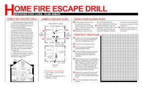 Evacuation Floor Plan 57 Home Fire Escape Plan Home Fire Escape Plan Cresskill Fire On
