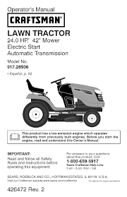 craftsman lawn mower yt 4000 user guide manualsonline com