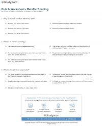 quiz u0026 worksheet metallic bonding study com