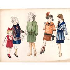 1950s Clothes For Kids Fashion Drawing And Illustration In The 20th Century Victoria
