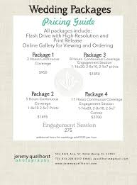 photography wedding packages quellhorst photography wedding pricing