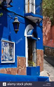 Painted Houses The Colorful Painted Houses Of Guanajuato Mexico Stock Photo