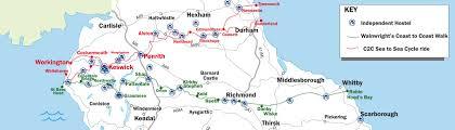 Map My Walk Route Coast To Coast Walk Accommodation Using Wainwright U0027s Route