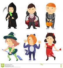 cartoon halloween picture halloween cute kids in costum clipart collection