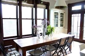 antique table with modern chairs unexpected combinations between modern chairs and country tables