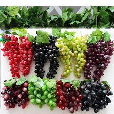 Grapes Home Decor Aliexpress Com Buy Artificial Fruit 22pcs Pvc Grape Grapes Home