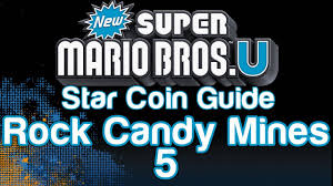 new super mario bros u star coin locations guide part 48 rock