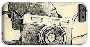 old vintage camera sketch drawing iphone 6s case for sale by