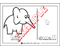 Opposites Colouring Pages For Pre School Children Small Coloring Pages